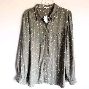 Maurice's Rayon Button Down Blouse
